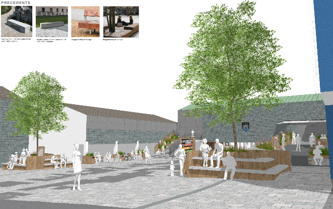 Latest plans for the Totnes Market Square